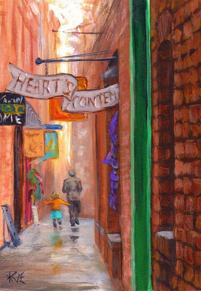 """""""Fan Tan Alley"""" original fine art by Ruth Van Egmond"""