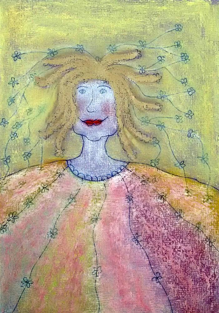 """Power Woman"" original fine art by Adéla Svobodová"