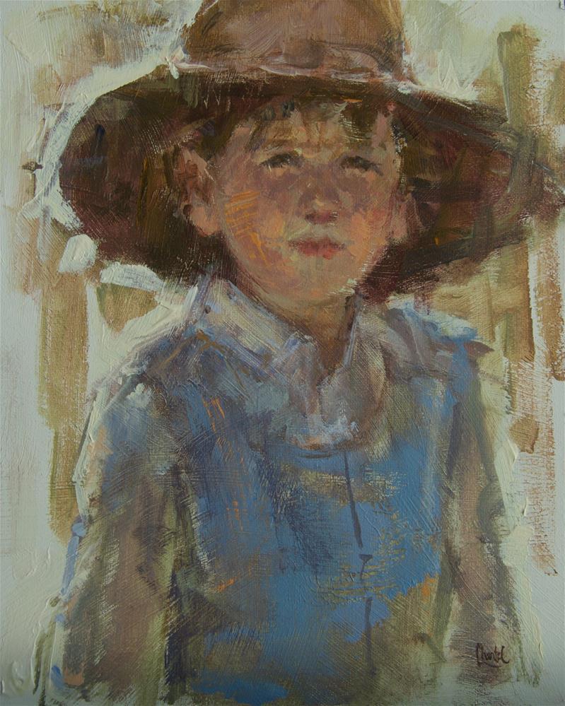 """My Little Boy Blue"" original fine art by Chantel Barber"