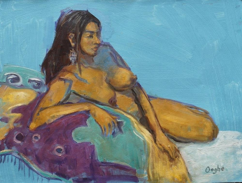 """Elsie Reclining"" original fine art by Angela Ooghe"