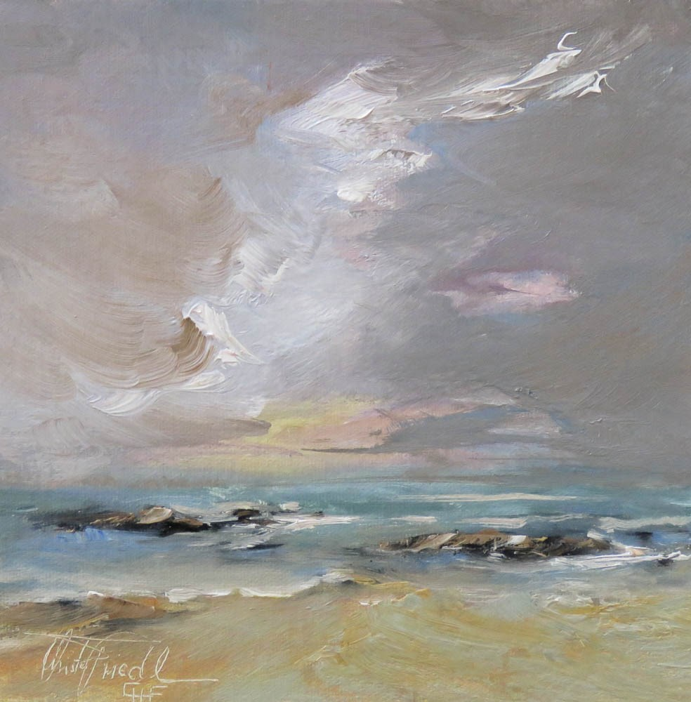 """approaching storm"" original fine art by Christa Friedl"