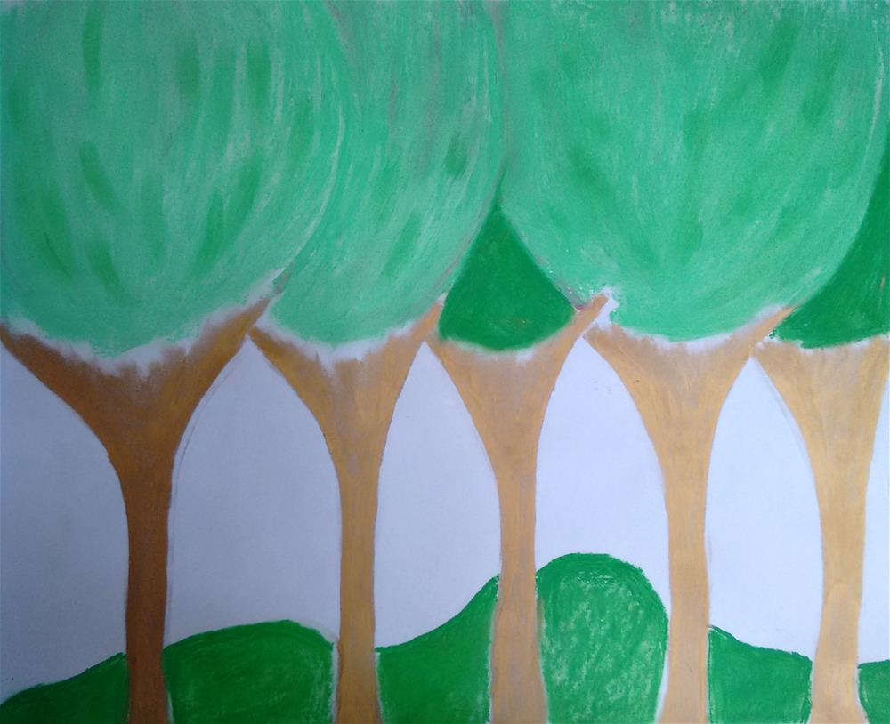 """Healing Green in the Heart"" original fine art by Adéla Svobodová"