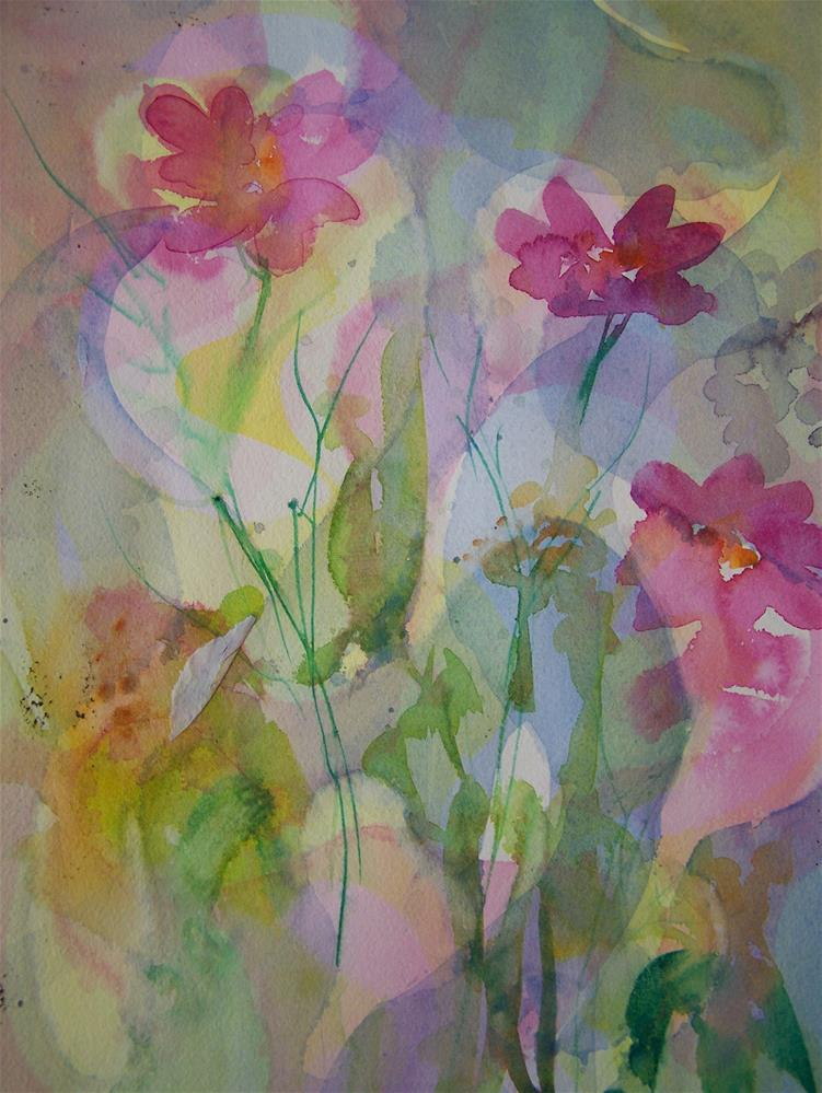 """Floral Abstract #3"" original fine art by Joan Reive"