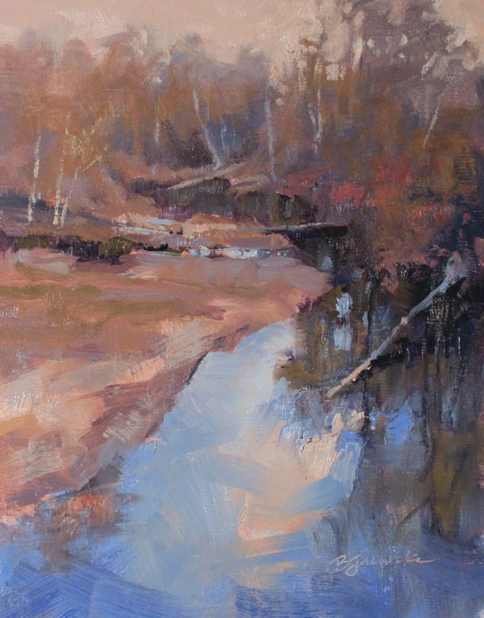 """Looking Down at the Sky"" original fine art by Barbara Jaenicke"