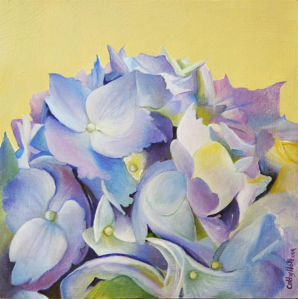 """Blue Hydrangea"" original fine art by Cathy Holtom"