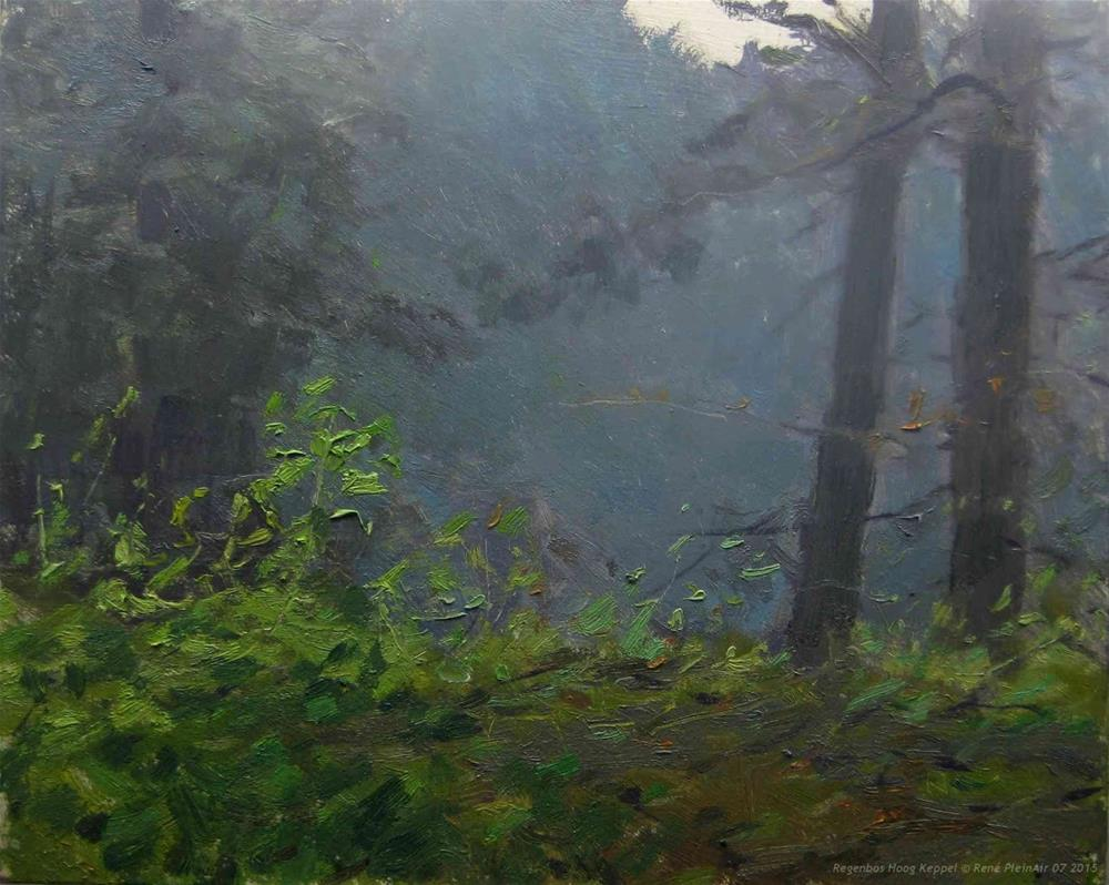 """Rain forrest Hoog Keppel, The Netherlands"" original fine art by René PleinAir"