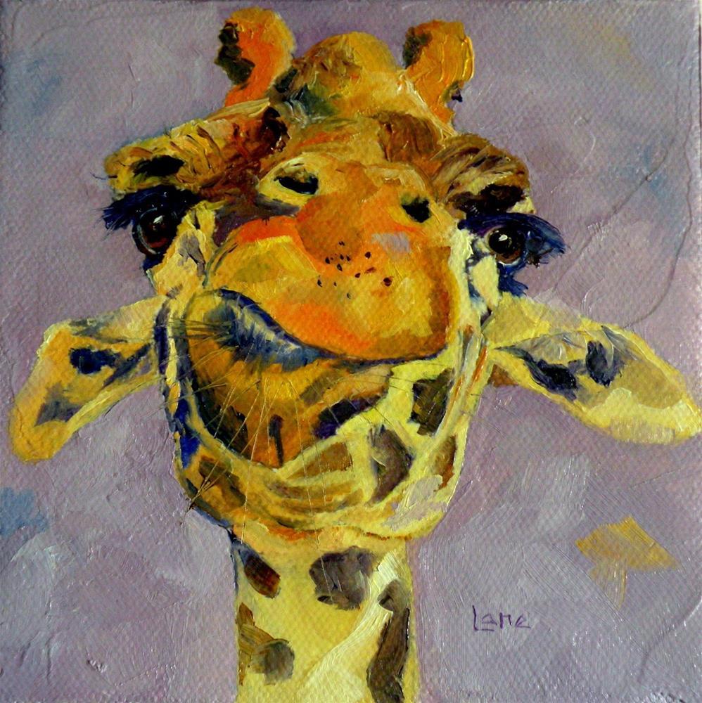 """GIRAFFE CONTEMPLATION © SAUNDRA LANE FINE ART"" original fine art by Saundra Lane Galloway"
