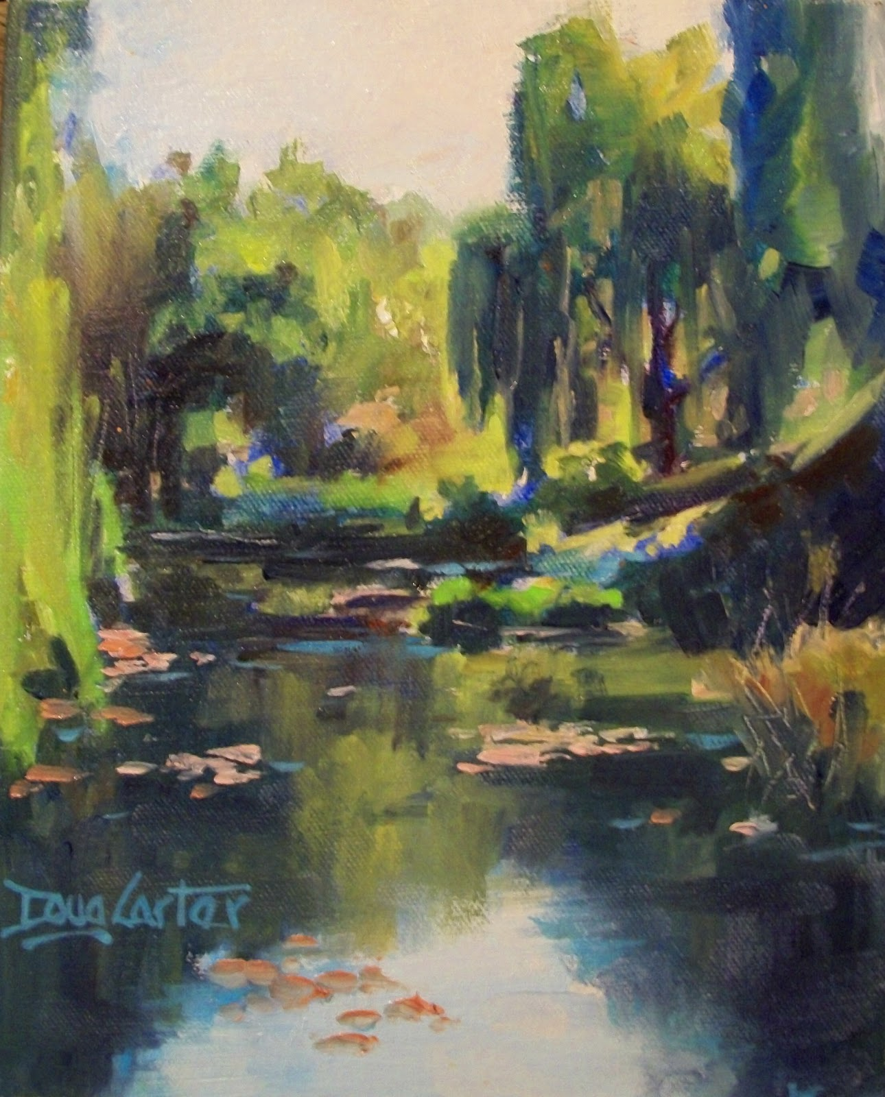 """Hidden Pond"" original fine art by Doug Carter"