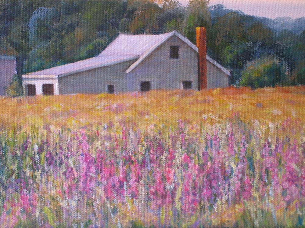 """Farmland"" original fine art by Linda Demers"