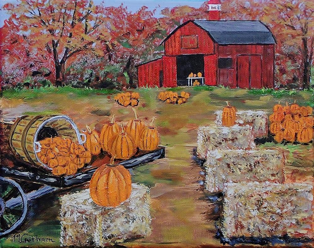 """Pumpkin Time"" original fine art by Mike Caitham"