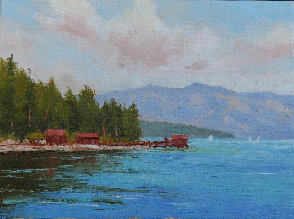"""Sunnyside (Tahoe)"" original fine art by Mark Bidstrup"