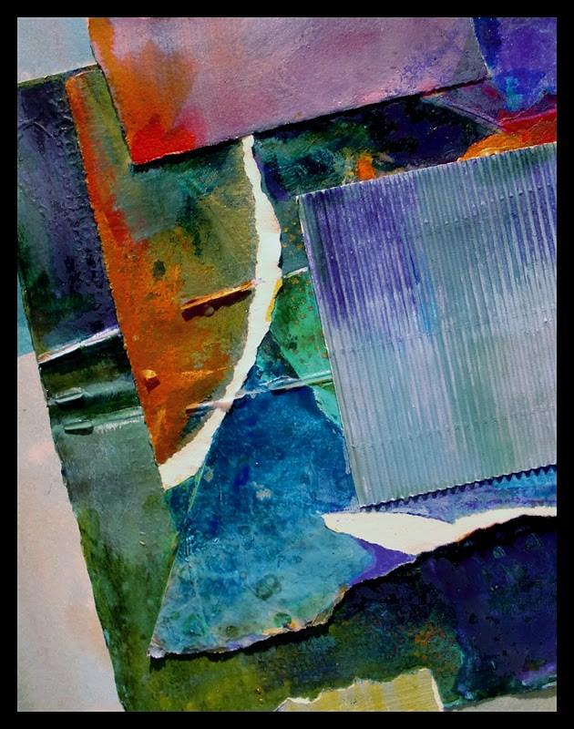"""PORTAL 12007, mixed media contemporary abstract © Carol Nelson Fine Art"" original fine art by Carol. Nelson"
