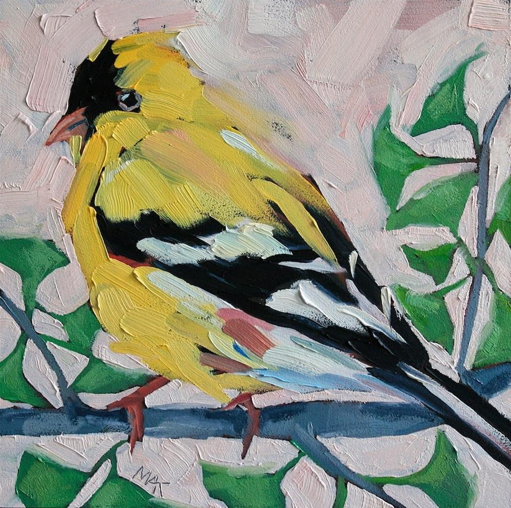 """Mr. Finch"" original fine art by Mary Anne Cary"
