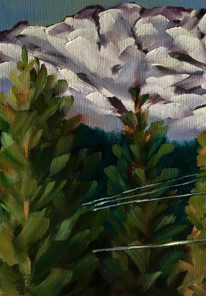 """Disappearing Utility Lines"" original fine art by Bobbie Cook"