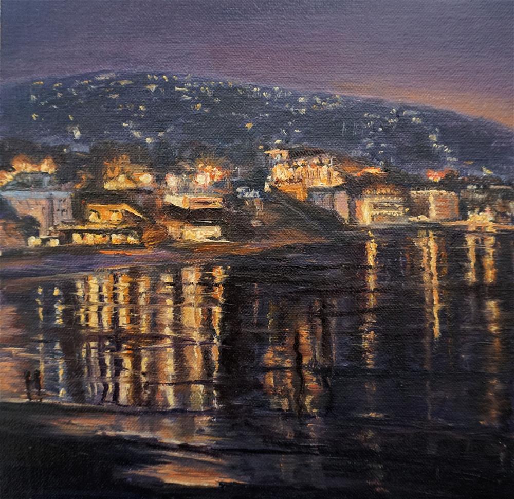 """Laguna Nocturne"" original fine art by Patricia Matranga"