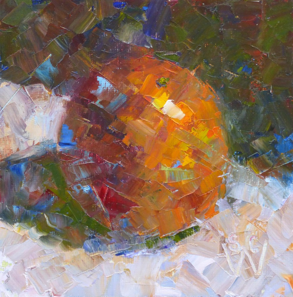 """Orange Crush"" original fine art by Susan Woodward"