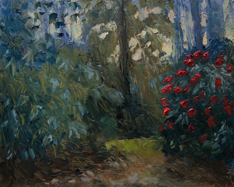 """""""Evening Camellia"""" original fine art by Jethro Knight"""