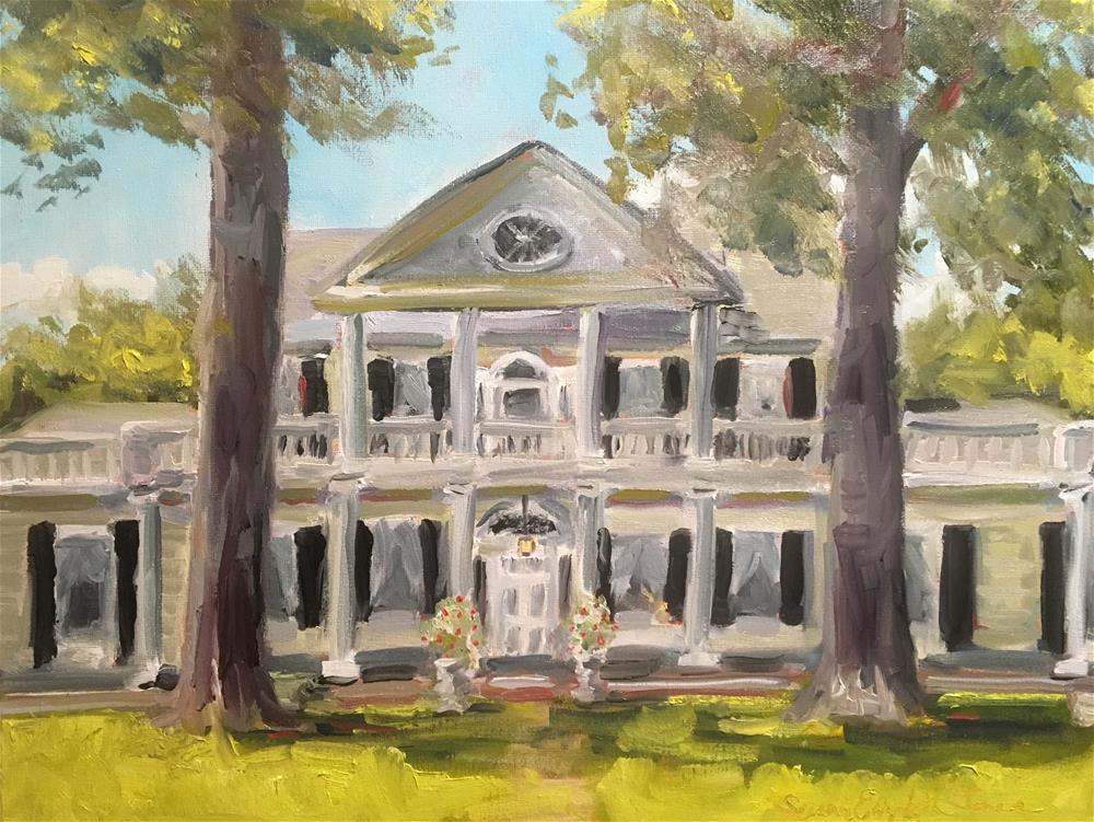 """Linden Antebellum Bed and Breakfast, Natchez, Mississippi"" original fine art by Susan Elizabeth Jones"