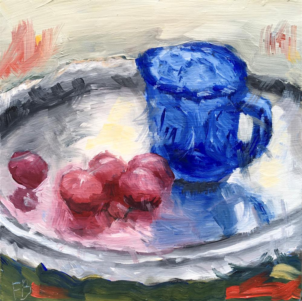 """097 Blue Cup"" original fine art by Fred Bell"