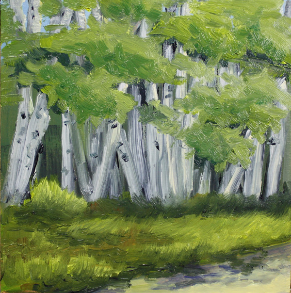 """Whispering Grove"" original fine art by Jane Frederick"