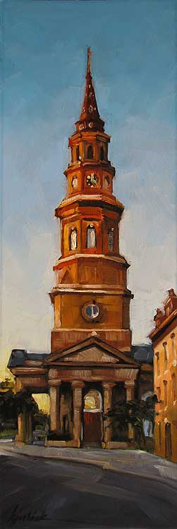 """St. Philip's"" original fine art by Karin Jurick"