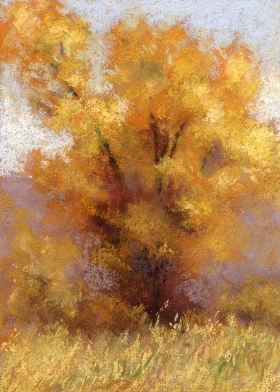 """Lone Cottonwood"" original fine art by David King"