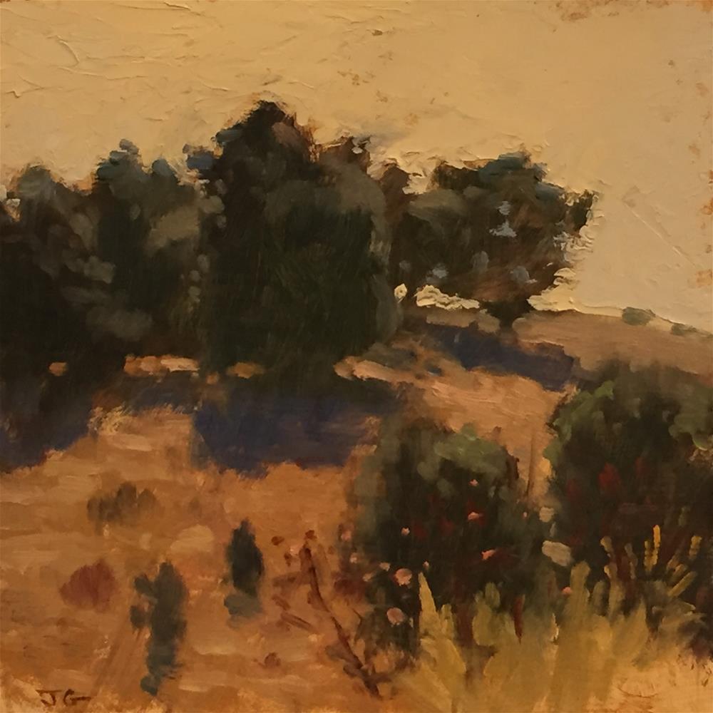 """morning on a hill"" original fine art by Joe Gyurcsak"