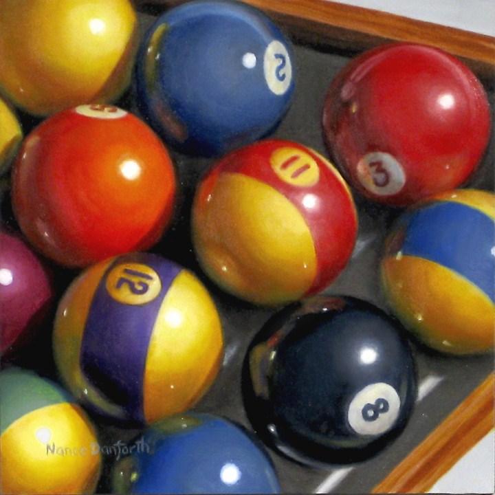 """Behind the Eight Ball"" original fine art by Nance Danforth"