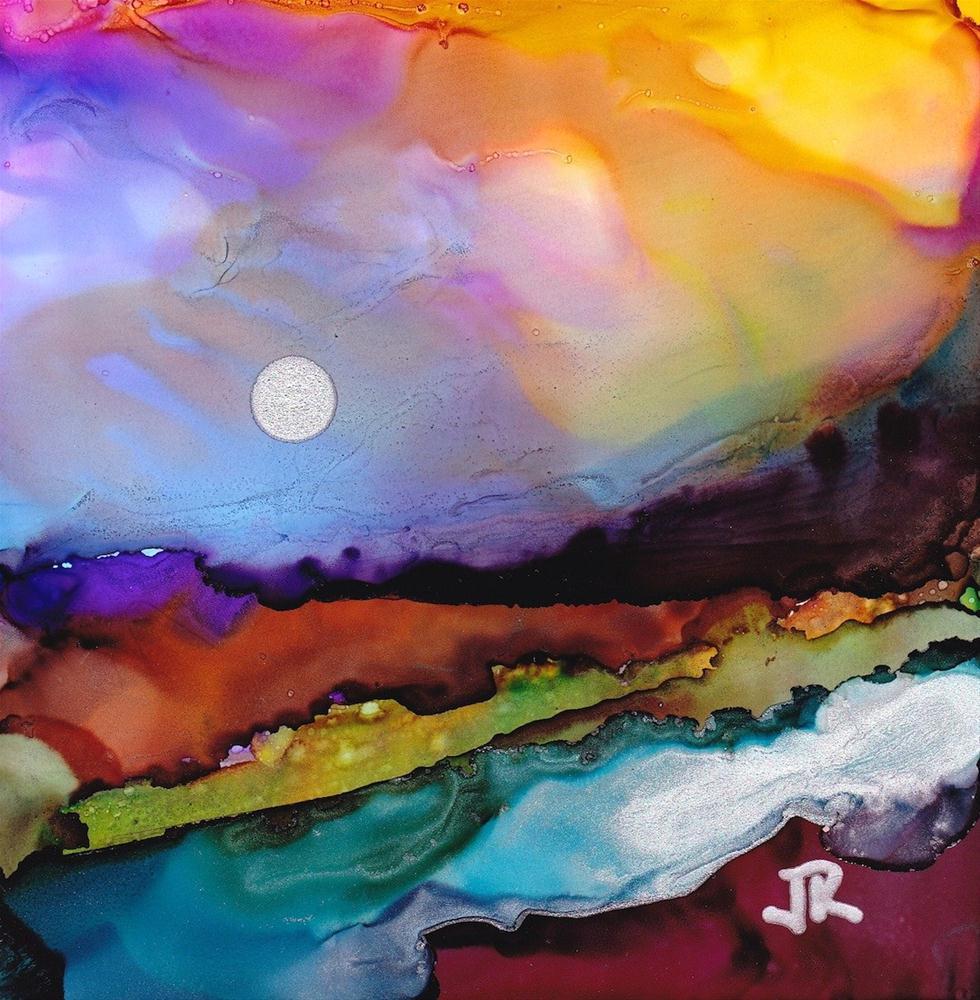 """Dreamscape No. 94"" original fine art by June Rollins"