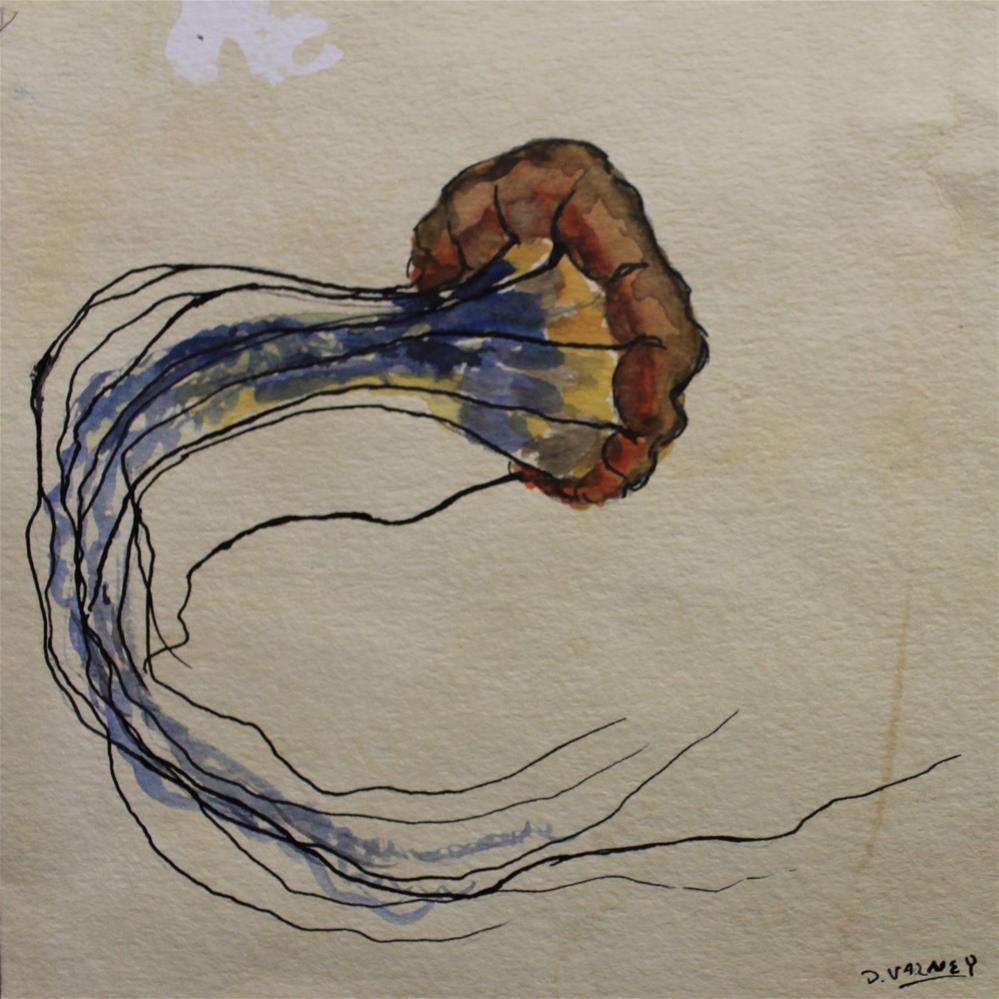 """Jelly Fish"" original fine art by Daniel Varney"