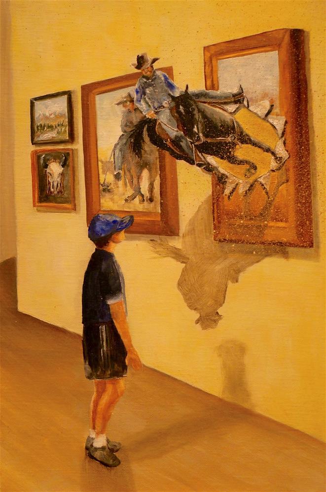 """Dreaming of Cowboys"" original fine art by Karen Robinson"