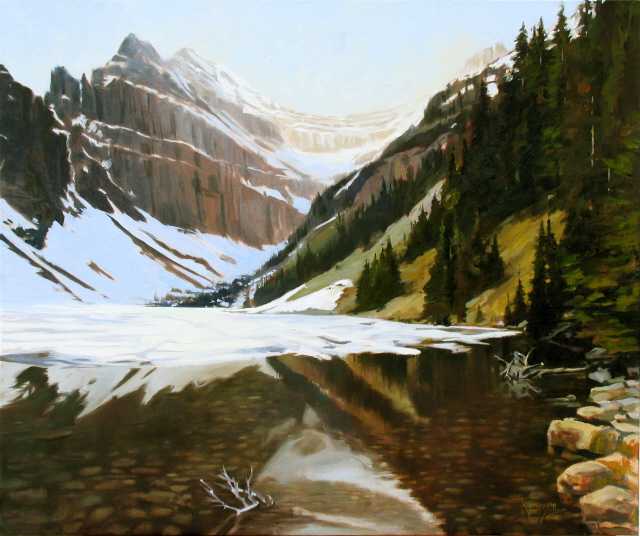 """Lake Agnes  Canadian Rockies,"" original fine art by Robin Weiss"