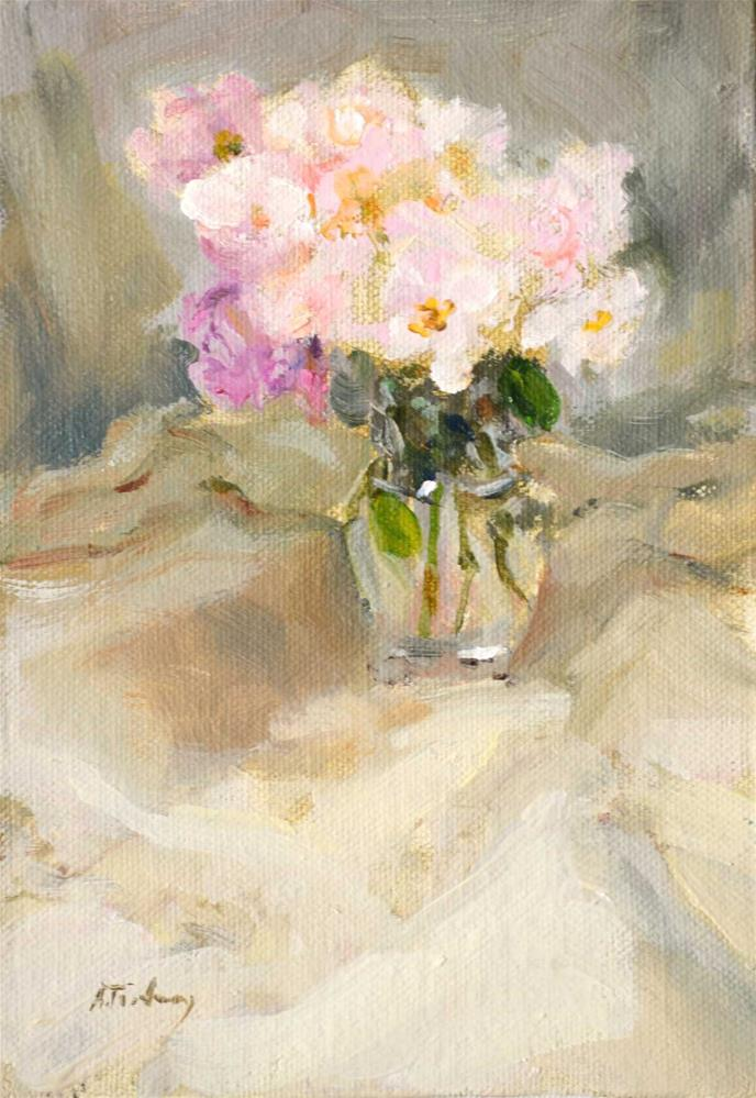 """Light Pink Roses"" original fine art by alicia tredway"