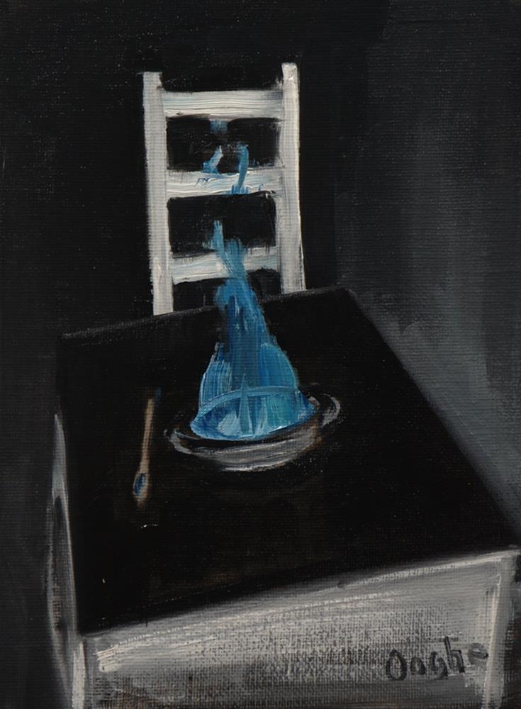 """""""Flambe en Bleu"""" original fine art by Angela Ooghe"""