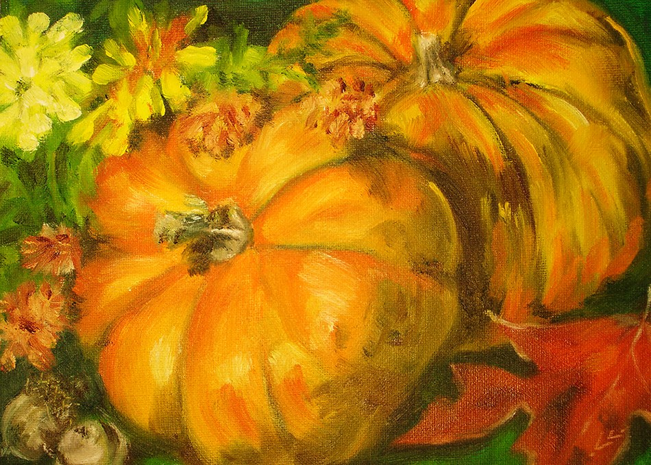 """Fall"" original fine art by Linda Lowery"