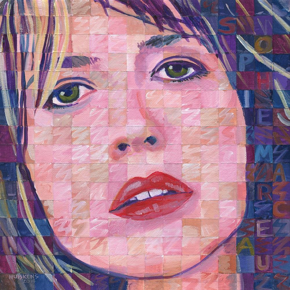 """""""Sophie Marceau"""" original fine art by Randal Huiskens"""