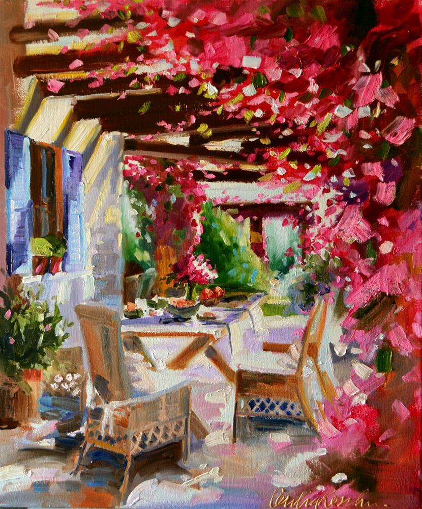 """BOUGAINVILLEA"" original fine art by Cecilia Rosslee"