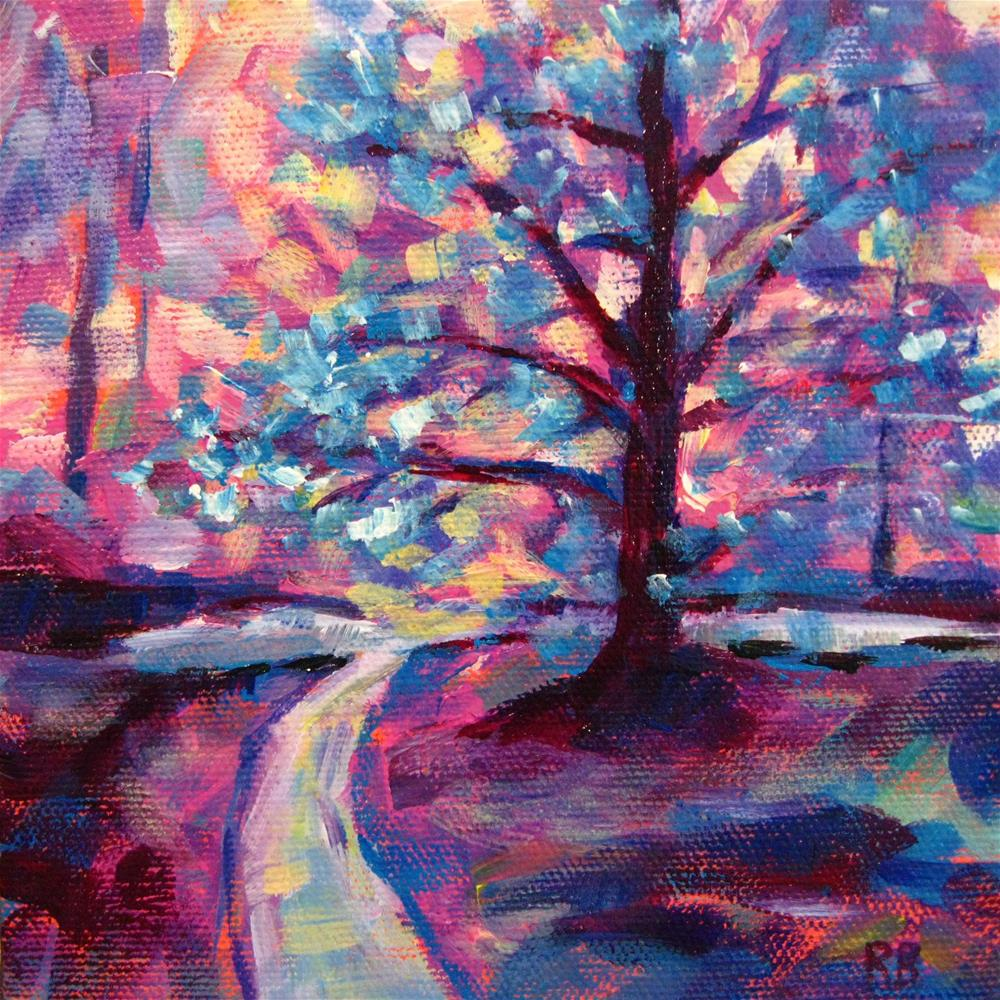 """Vibrant Tree XII"" original fine art by Robie Benve"