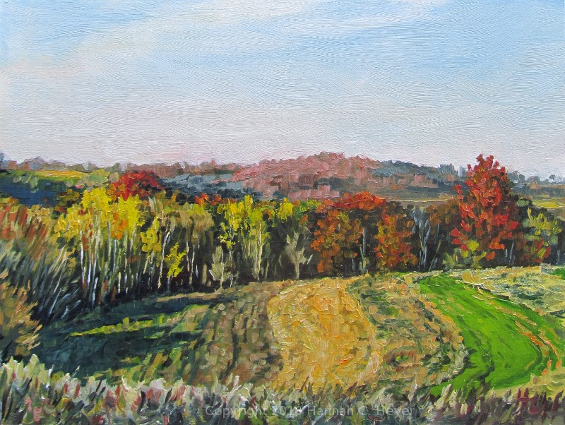 """Late October Color"" original fine art by Hannah C. Heyer"