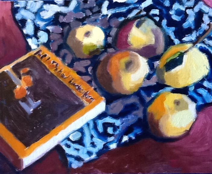"""Grapefruit That Look Like Apples,and Diebenkorn"" original fine art by Pamela Hoffmeister"