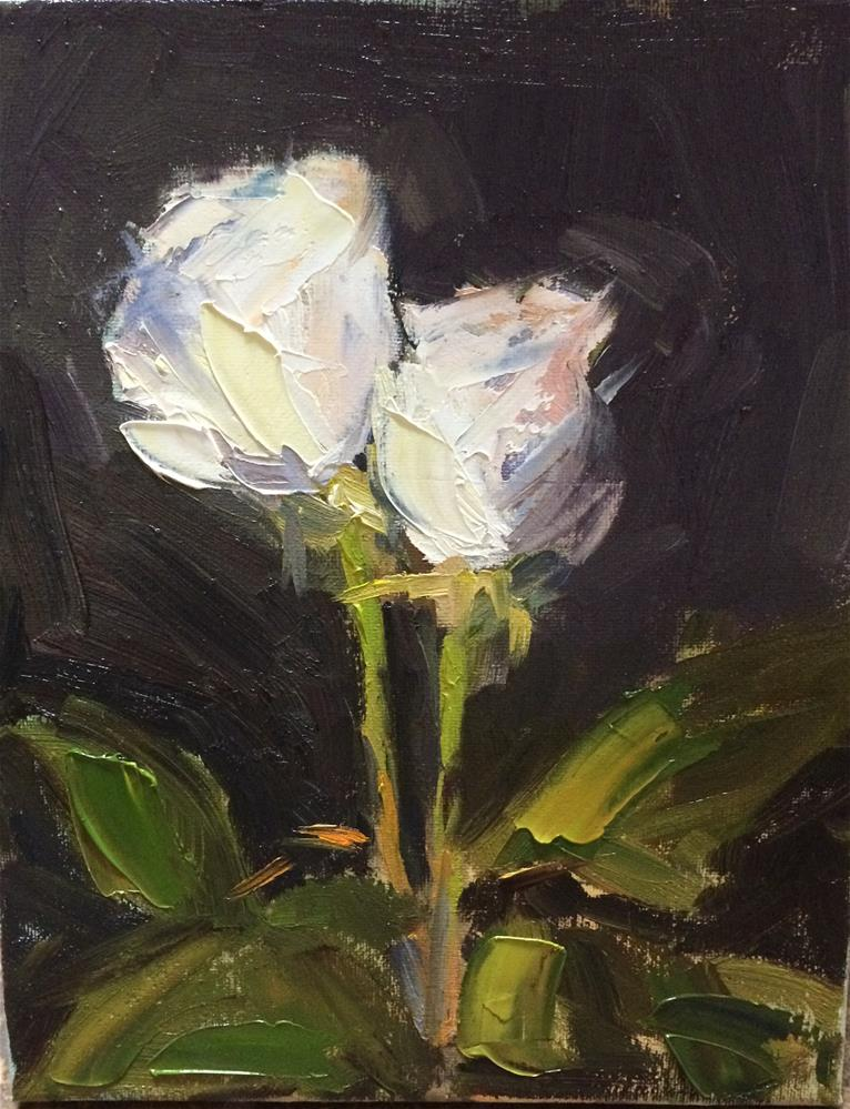 """White Roses"" original fine art by Naomi Bautista"