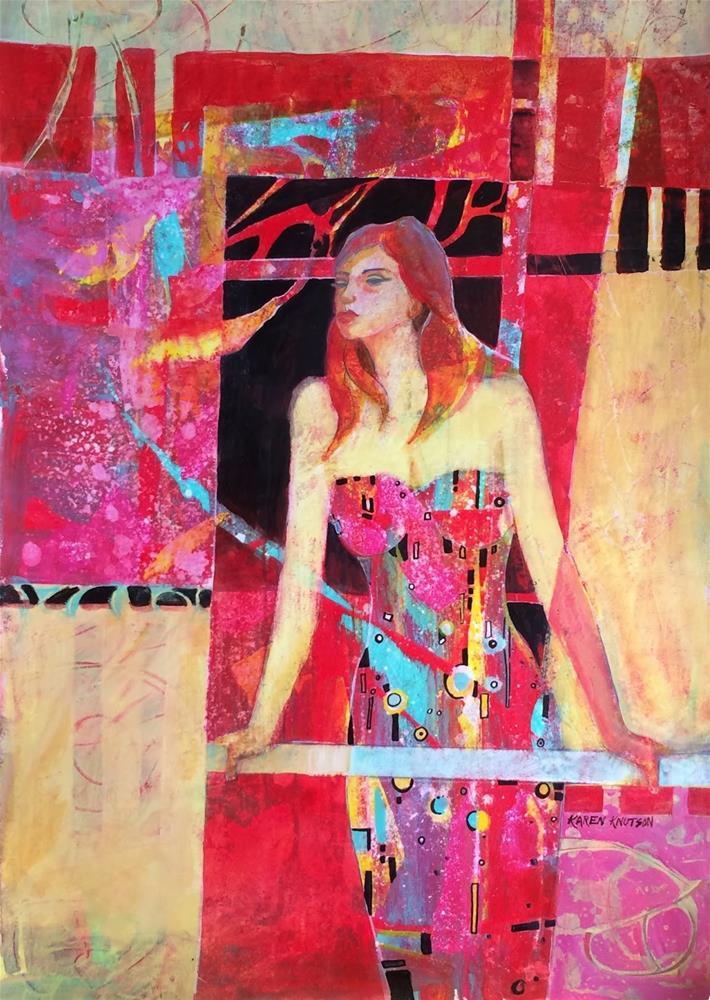"""The Diva"" original fine art by Karen Knutson"