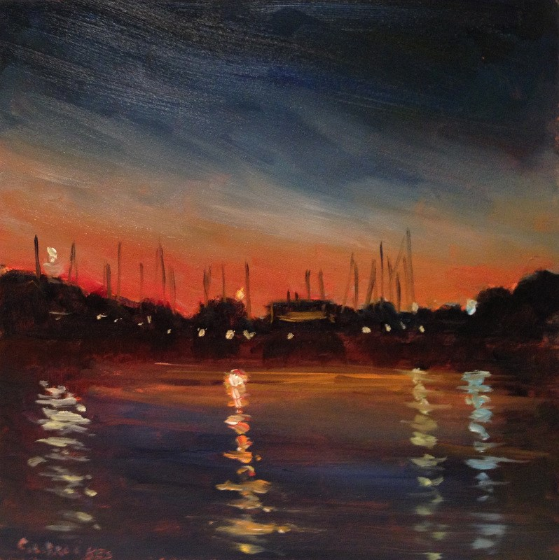 """Night Lights, Day 58"" original fine art by Claudia L Brookes"
