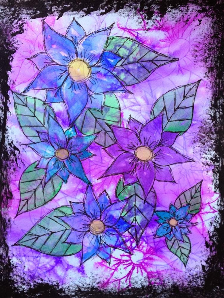 """Feeling Flowery"" original fine art by Kali Parsons"