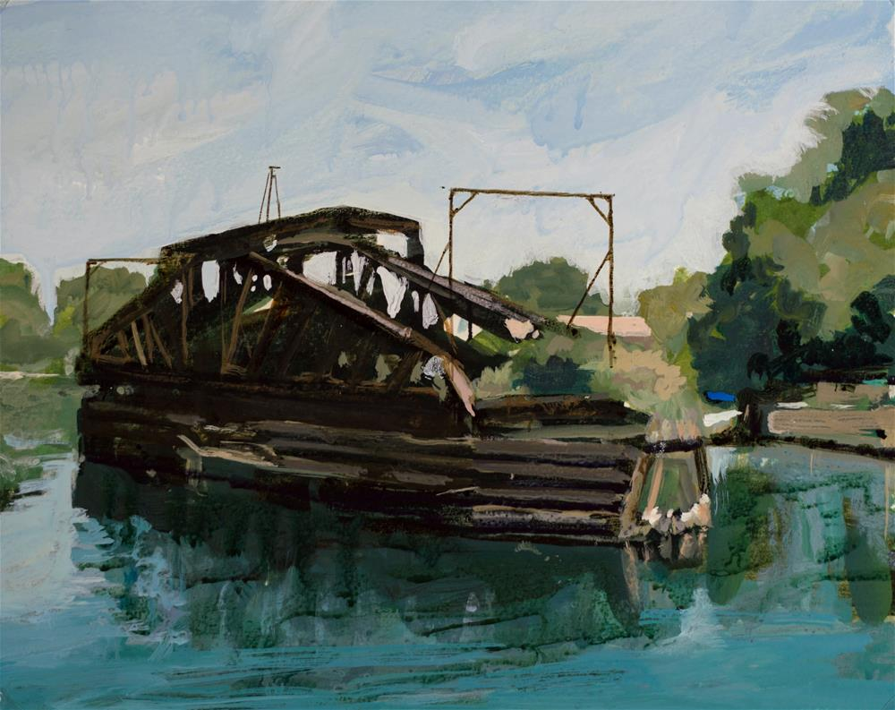 """Swing Bridge, Tonawanda New York"" original fine art by Chris  Breier"