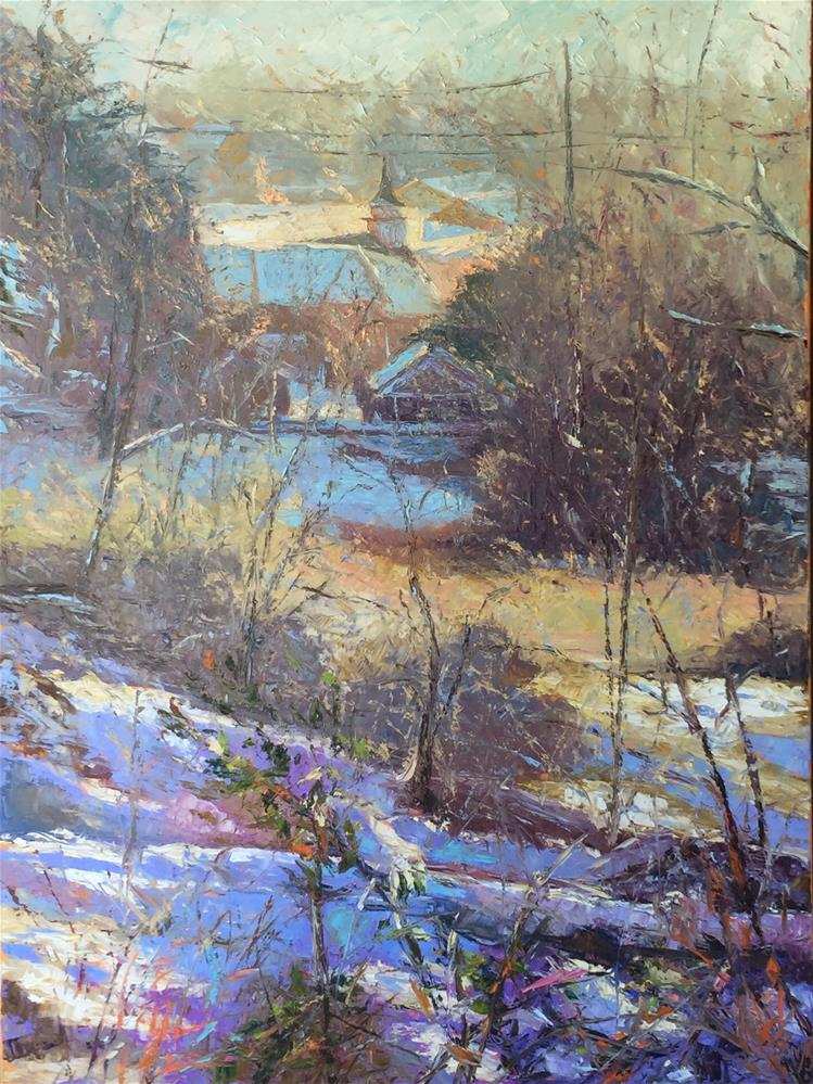 """Early Snow"" original fine art by Jenny Buckner"