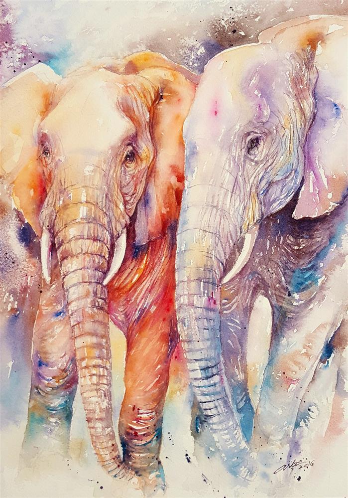"""Soul Mates II"" original fine art by Arti Chauhan"