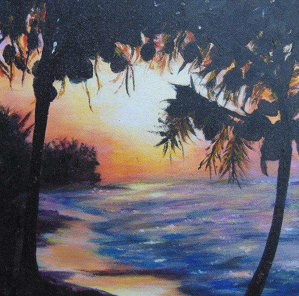 """tropical sun"" original fine art by wendy black"