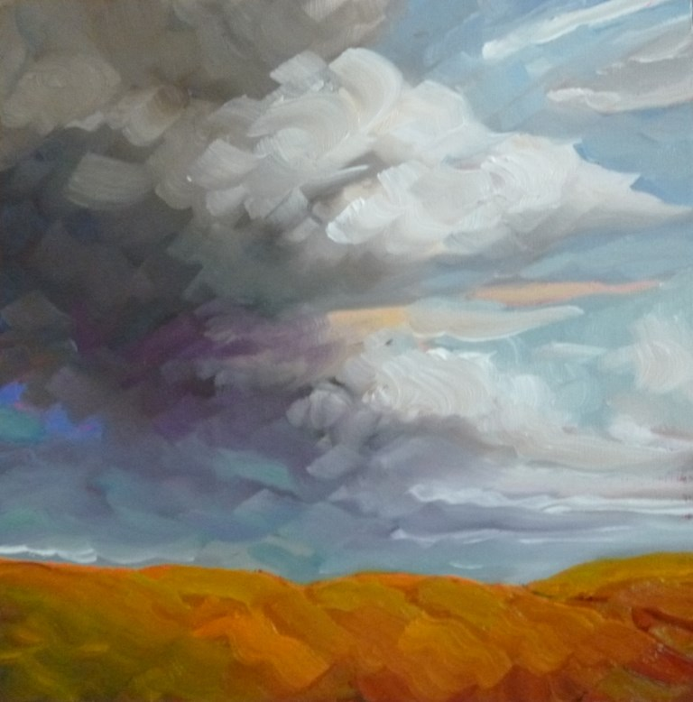 """94 SUMMER CLOUDS"" original fine art by Dee Sanchez"