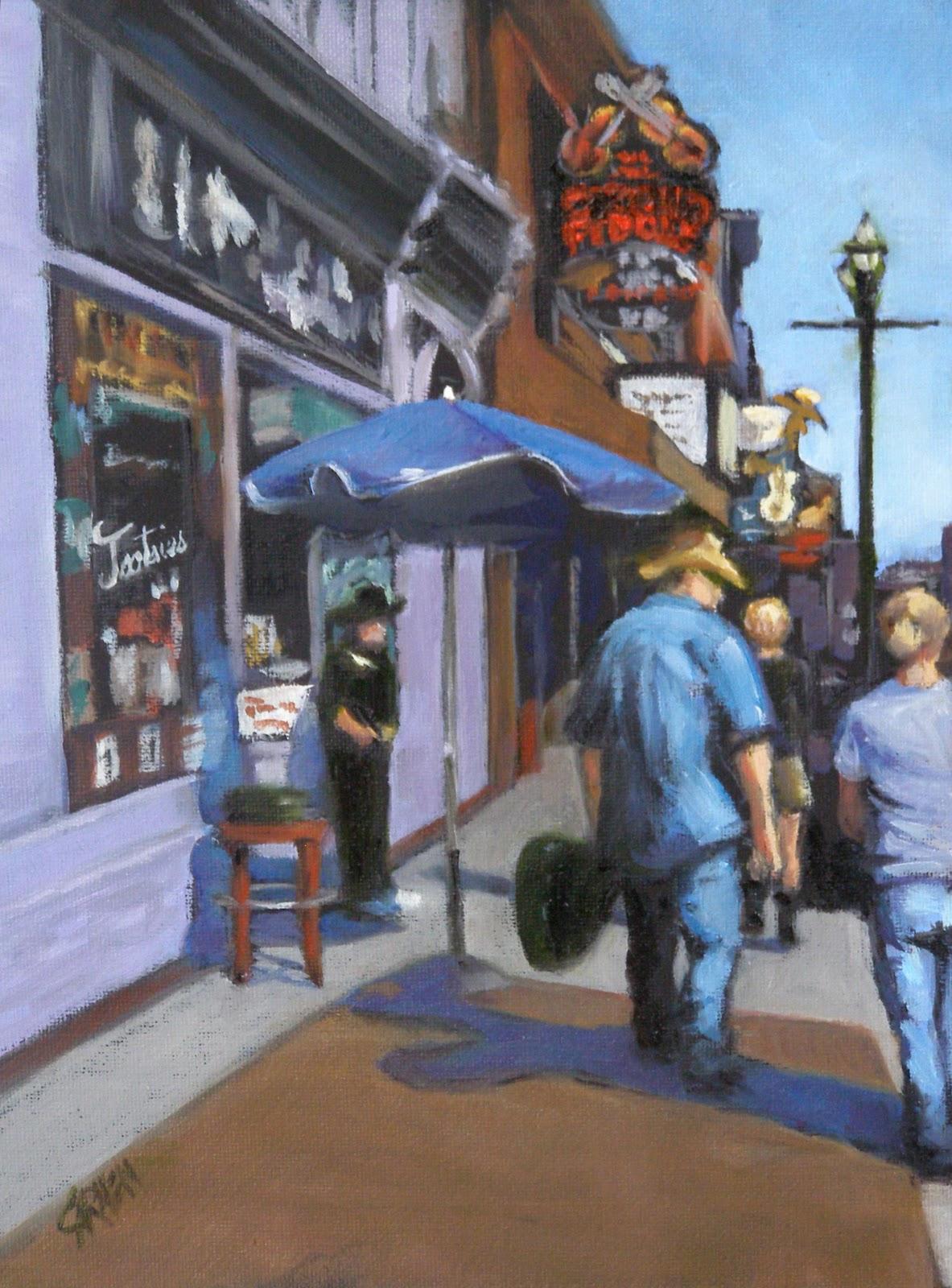 """""""Nashville Cats, 8x6"""" original fine art by Carmen Beecher"""